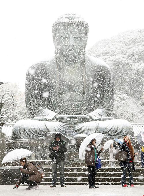 Ngắm tuyết rơi sớm tuyệt đẹp ở Nhật Bản - 15
