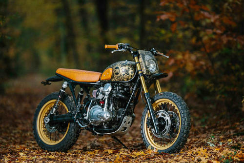 Ngắm Kawasaki W650 Scrambler độ hình xăm cực chất - 1