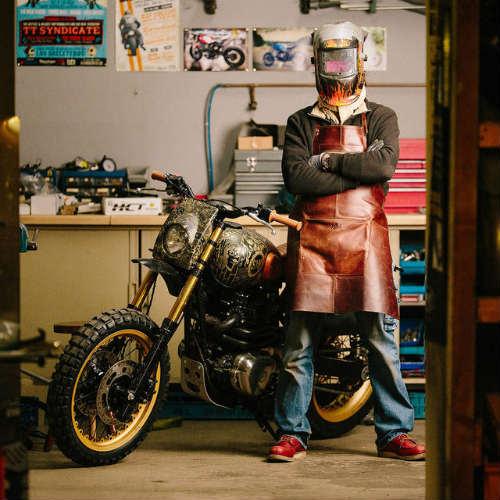 Ngắm Kawasaki W650 Scrambler độ hình xăm cực chất - 9
