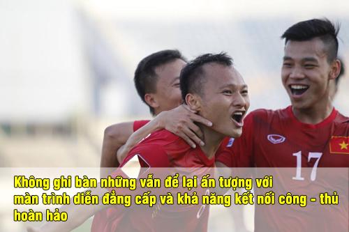 """Chấm điểm ĐT Việt Nam: Công Vinh ghi bàn, Trọng Hoàng """"sáng"""" nhất - 6"""
