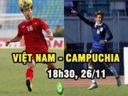 """Bóng đá - Việt Nam – Campuchia: Chờ Công Phượng """"ghi điểm"""" (AFF Cup 2016)"""