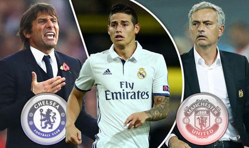 Chelsea-Conte tranh James Rodriguez với MU-Mourinho - 1