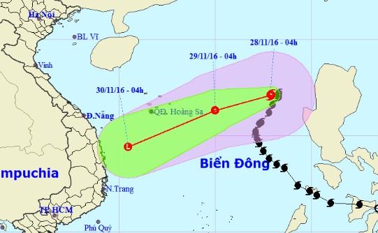 Bão số 9 giật cấp 11 hướng vào quần đảo Hoàng Sa - 1