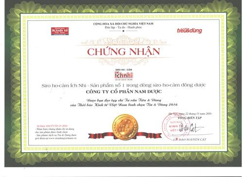 Siro Ho-cảm Ích Nhi là sản phẩm số 1 trong dòng Siro Ho cảm Đông dược - 1