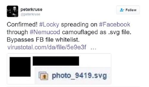 Coi chừng bị mã hóa dữ liệu với biến thể Locky trên Facebook - 1
