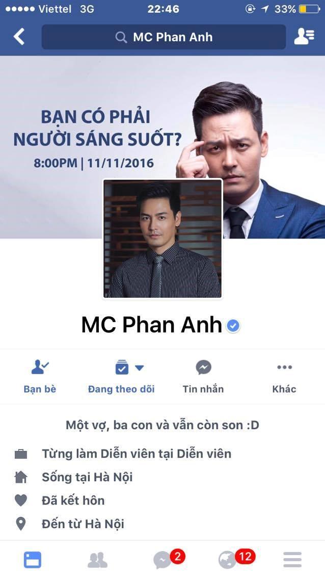 Phan Anh lên tiếng khi tài khoản Facebook bất ngờ bị khóa - 1