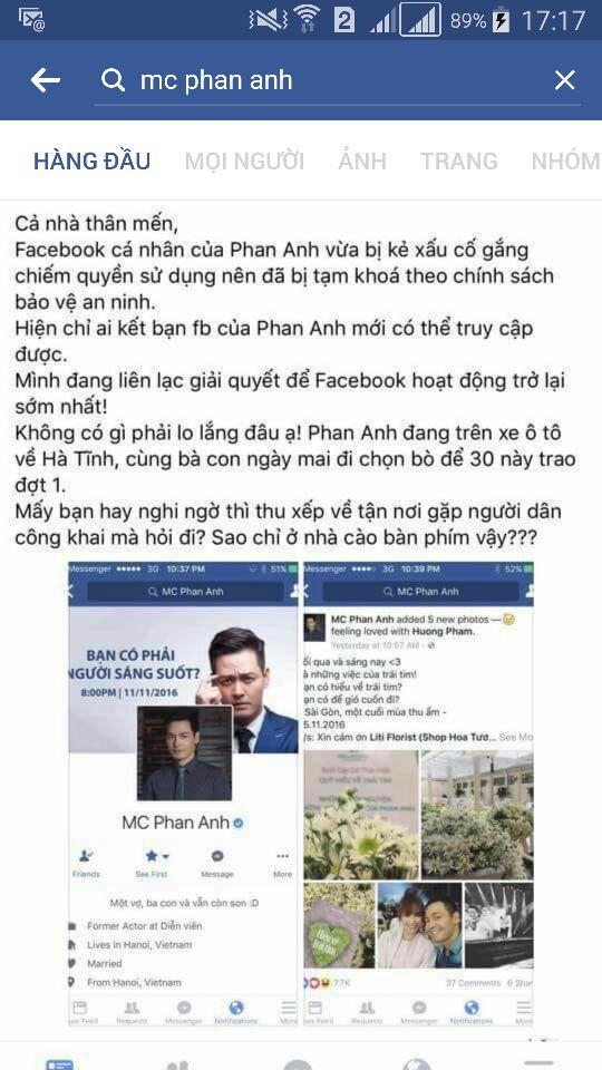 Phan Anh lên tiếng khi tài khoản Facebook bất ngờ bị khóa - 2