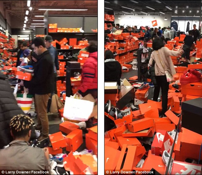 Mỹ: Cảnh kinh hoàng ở cửa hàng Nike sau Thứ sáu Đen - 2