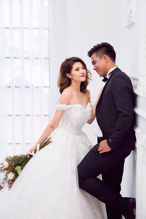 Nữ DJ bốc lửa khoe ảnh cưới lãng mạn với cựu tiền đạo Việt Thắng - 4