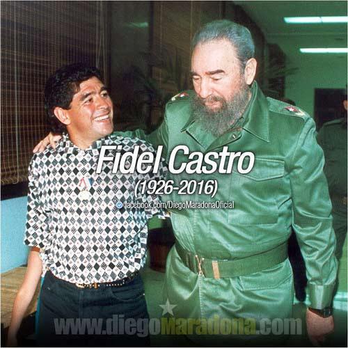 """Maradona: """"Tôi nhớ thương Fidel Castro như người cha thứ hai"""" - 1"""