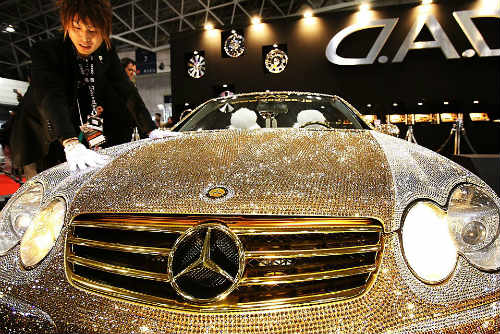 Lóa mắt Mercedes-Benz SL 600 kim cương giá 109 tỷ đồng - 3