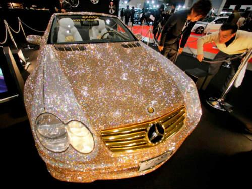Lóa mắt Mercedes-Benz SL 600 kim cương giá 109 tỷ đồng - 1