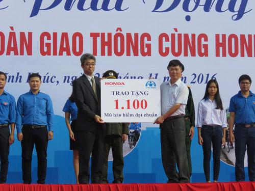 """""""Chiến dịch ATGT cùng Honda Việt Nam"""" tại tỉnh Vĩnh Phúc - 5"""