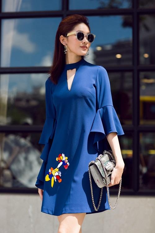 Á hậu Thùy Dung bất ngờ cá tính với áo bra-top hở eo - 5
