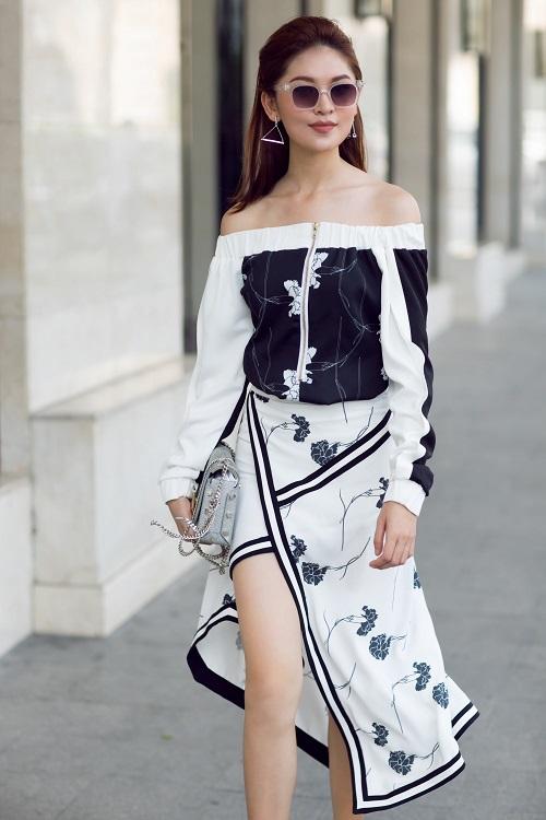Á hậu Thùy Dung bất ngờ cá tính với áo bra-top hở eo - 8
