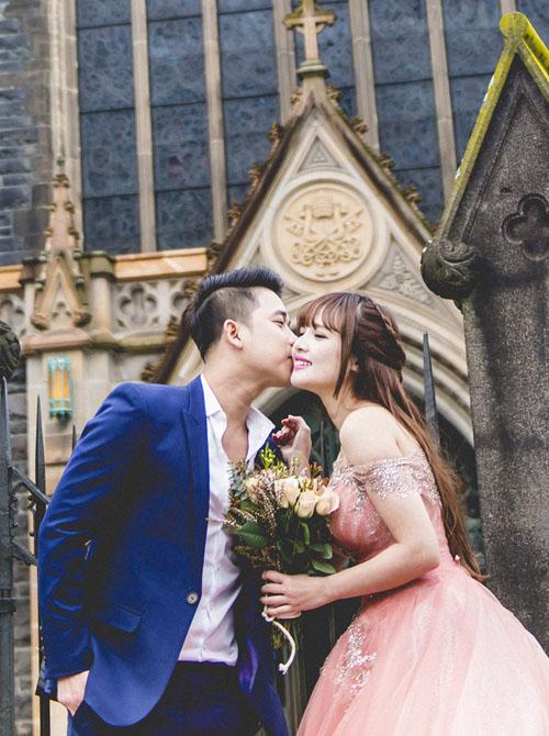 Vợ chồng Lê Hoàng (The Men) chụp ảnh cưới lãng mạn tại trời Tây - 5