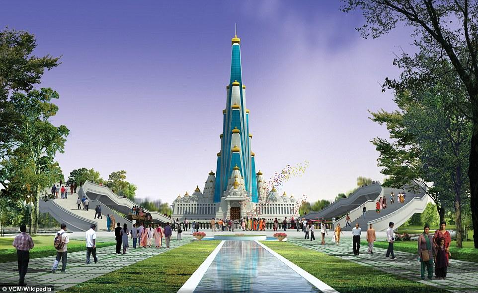 Ấn Độ xây đền cao nhất thế giới, có bãi đỗ trực thăng - 1