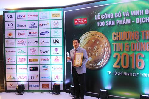 Lock&Lock nhận giải thưởng Top 10 sản phẩm, dịch vụ tin & dùng năm 2016 - 2