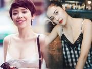 """4 kiều nữ Việt """"nghiện"""" mặc áo hai dây sexy ra phố"""