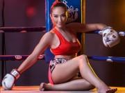 Đả nữ Muay Thái đẹp hiếm: Mặt xinh, da trắng, bụng 6 múi