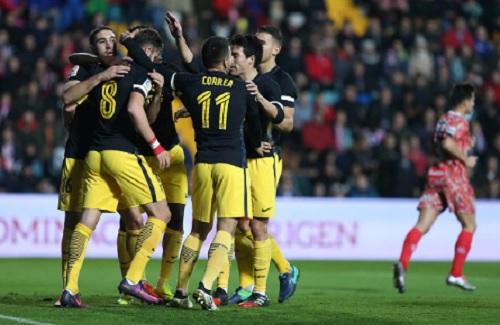 Guijuelo - Atletico: Tưng bừng 6 bàn thắng - 1