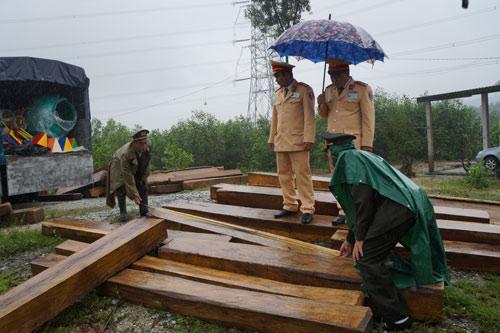 Bị phát hiện vận chuyển gỗ hiếm, trùm gỗ lậu bỏ trốn - 1