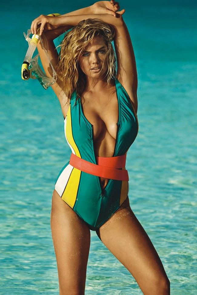 1. Kate Upton:là một trong những người mẫu bikini để lại ấn tượng mạnh nhất trong lịch sử tạp chí áo tắm Sports Illustrated.