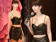 Thời trang - Hà Anh mặc táo bạo chỉ đạo catwalk, sexy lấn át đàn em