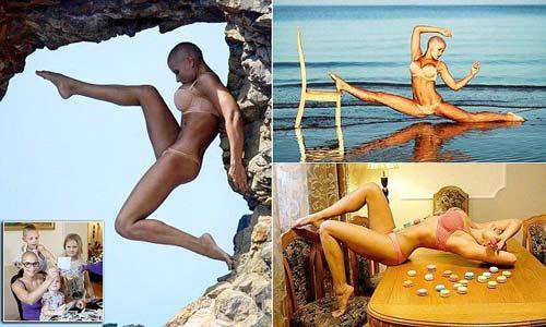Mẹ 3 con khoe thế Yoga như cao thủ Thiếu Lâm - 1