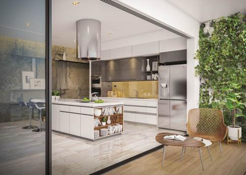 """4 lý do tủ lạnh mặt thép """"lên ngôi"""" trong thiết kế bếp hiện đại. - 160479"""