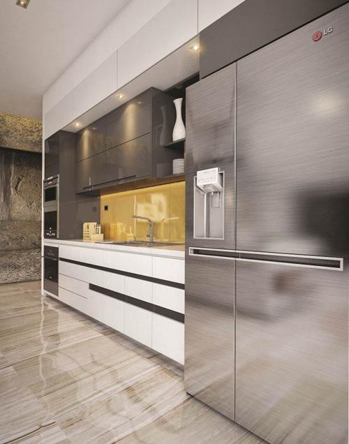 """4 lý do tủ lạnh mặt thép """"lên ngôi"""" trong thiết kế bếp hiện đại. - 160480"""