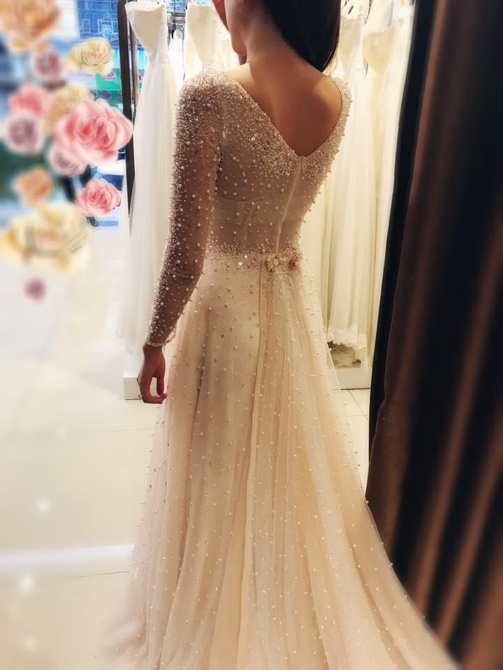 """""""Lóa mắt"""" với váy cưới 100 triệu của MC VTV - 6"""