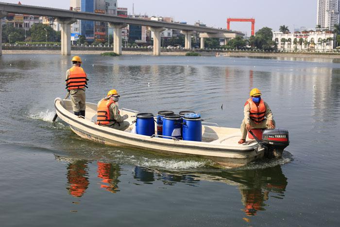 Cận cảnh công nghệ độc quyền làm sạch hồ của Hà Nội - 6
