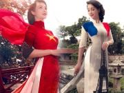 Mai Thu Huyền gây ấn tượng với áo dài họa tiết di sản