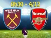 West Ham – Arsenal: Cơ hội vượt lên