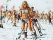 Mỹ nữ xứ Bạch Dương diện bikini trượt tuyết đẹp hút hồn