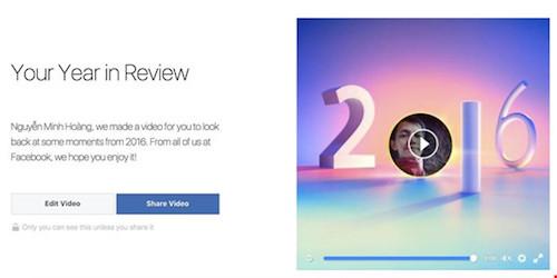 Phát sốt với tính năng Year In Review trên Facebook - 1