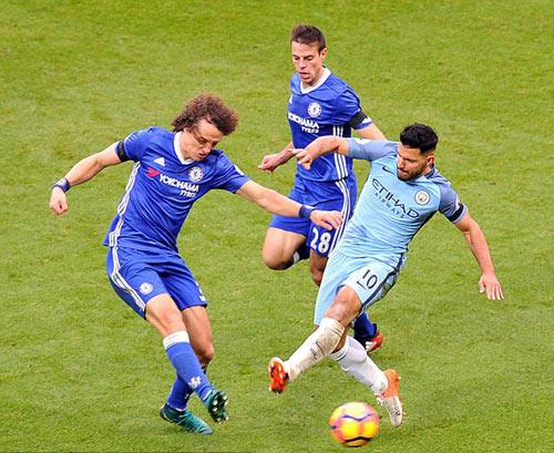 "Vụ ẩu đả trận Man City – Chelsea: Luiz ""vỗ về"" Aguero - 1"