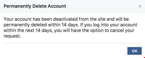 Mẹo xóa tài khoản Facebook vĩnh viễn - 3