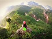 """""""Cưỡi khủng long"""" trên núi rừng Bình Liêu"""