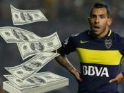 """Đến Trung Quốc, Tevez """"chấp"""" cả lương Messi, Ronaldo"""