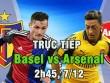 TRỰC TIẾP bóng đá Basel - Arsenal: Còn nước, còn tát