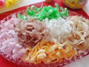 Ẩm thực - Làm mứt dừa nhiều màu bằng sữa hoa quả cực đơn giản