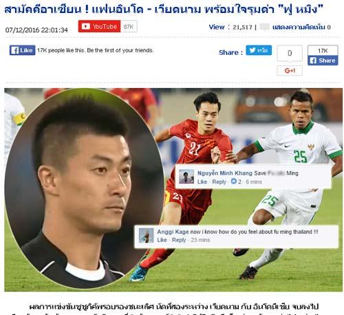 Fan ĐTVN tức vì trọng tài Trung Quốc, báo Thái cảm thông - 1