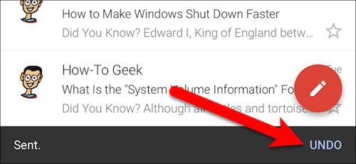 Lấy lại email đã gửi bằng Gmail trên iPhone - 1