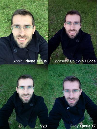 Camera trước iPhone 7, Galaxy S7 Edge, LG V20 và Xperia XZ tranh tài - 1