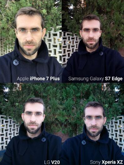 Camera trước iPhone 7, Galaxy S7 Edge, LG V20 và Xperia XZ tranh tài - 2