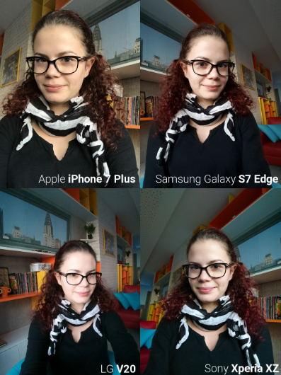 Camera trước iPhone 7, Galaxy S7 Edge, LG V20 và Xperia XZ tranh tài - 6