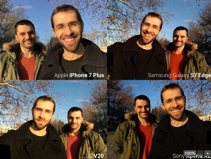 Camera trước iPhone 7, Galaxy S7 Edge, LG V20 và Xperia XZ tranh tài - 4
