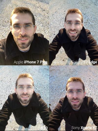 Camera trước iPhone 7, Galaxy S7 Edge, LG V20 và Xperia XZ tranh tài - 3